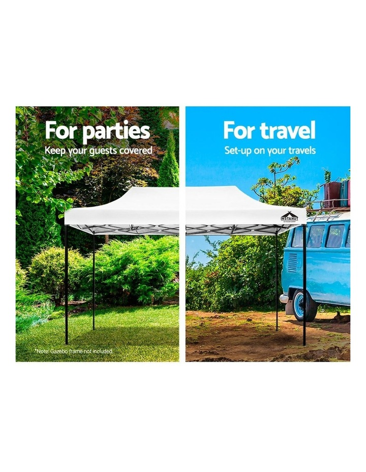 Instahut Gazebo 3x6m Pop Up Marquee Replacement Roof Outdoor Wedding Tent White image 4