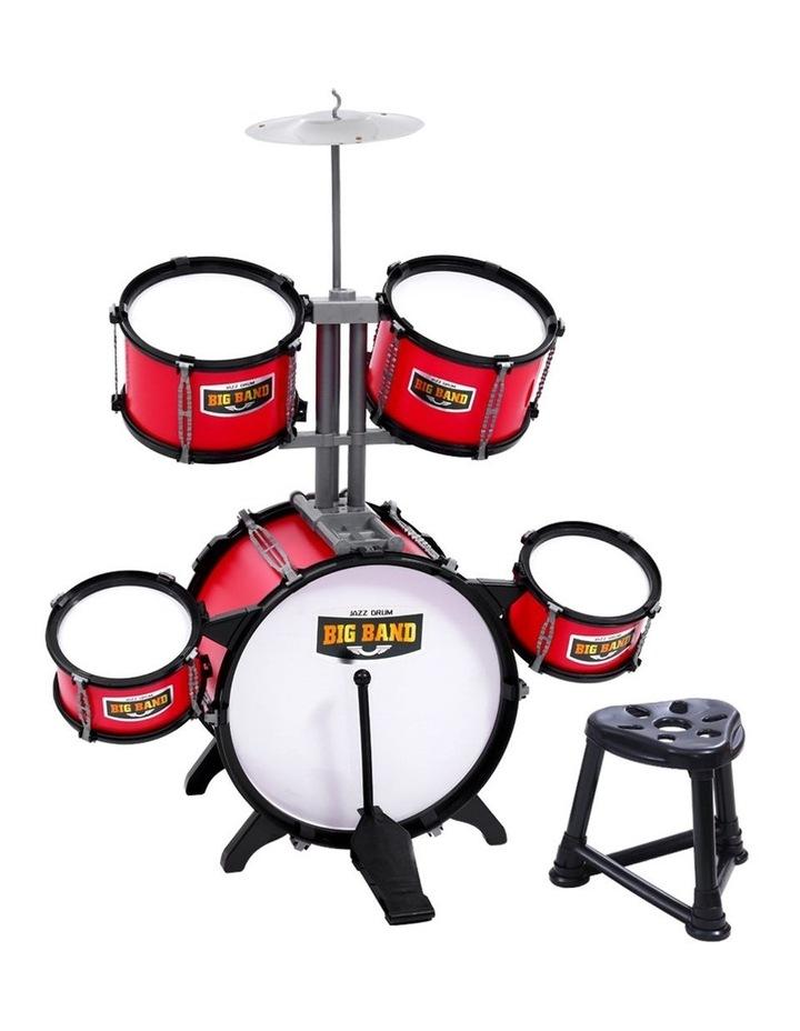 Keezi Kids 7 Drum Set Junior Drums Kit Musical Play Toys Childrens Mini Big Band image 1