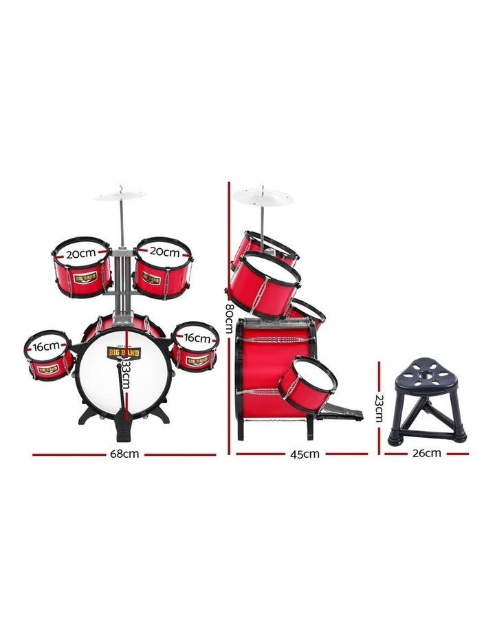 Keezi Kids 7 Drum Set Junior Drums Kit Musical Play Toys Childrens Mini Big Band image 2