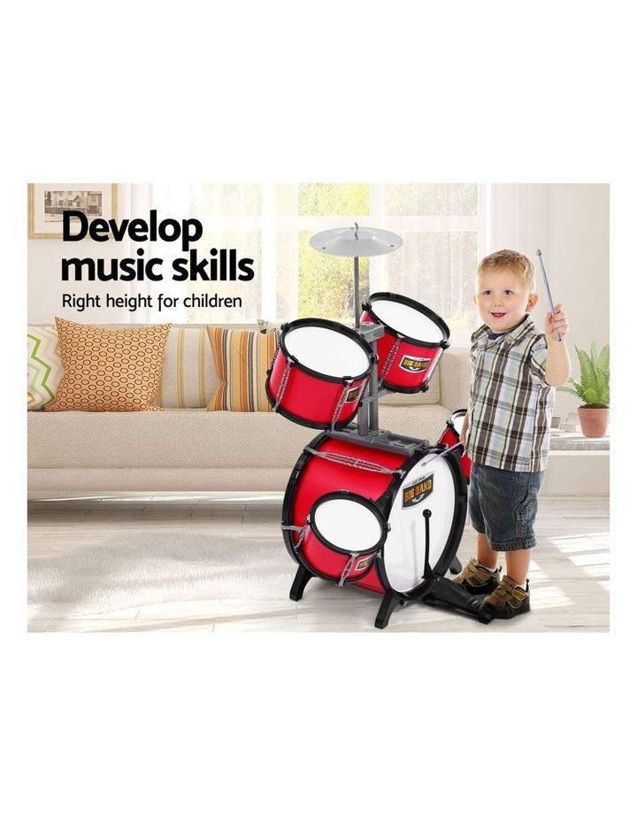 Keezi Kids 7 Drum Set Junior Drums Kit Musical Play Toys Childrens Mini Big Band image 5
