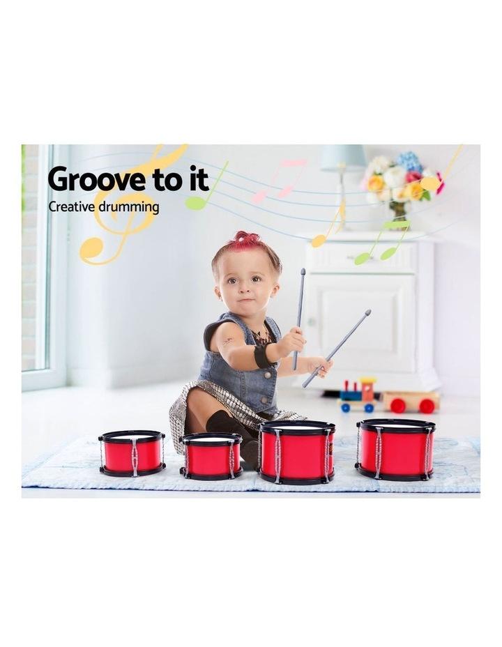 Keezi Kids 7 Drum Set Junior Drums Kit Musical Play Toys Childrens Mini Big Band image 6