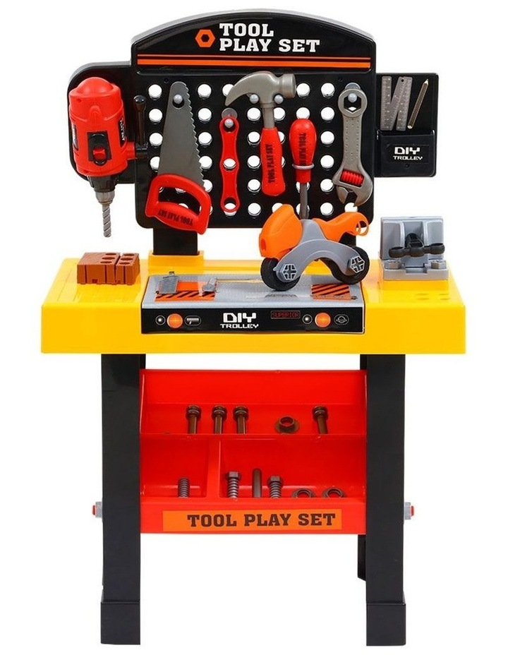 Keezi Kids Pretend Play Set Workbench Tools 54pcs Builder Work Childrens Toys image 3