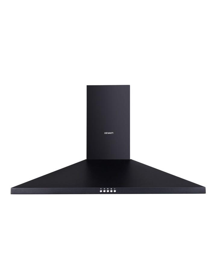 Range Hood Rangehood 90cm 900mm Kitchen Canopy LED Light Wall Mount Black image 3