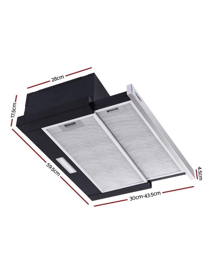 Rangehood Range Hood Stainless Steel Slide Out Kitchen Canopy 60cm 600mm Black image 2