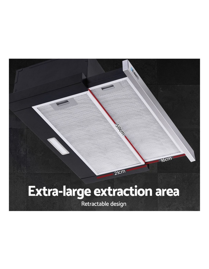Rangehood Range Hood Stainless Steel Slide Out Kitchen Canopy 60cm 600mm Black image 4