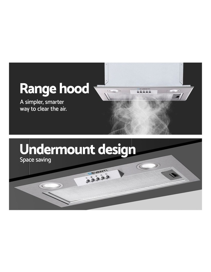 Range Hood Rangehood Undermount Built In Stainless Steel Canopy 52cm image 3