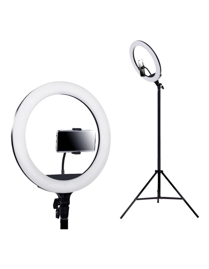 """14"""" LED Ring Light 5600K 3000LM Dimmable Stand MakeUp Studio Video image 1"""