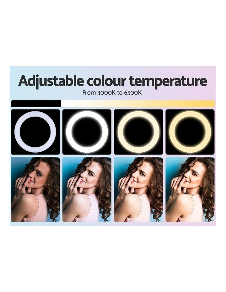 """14"""" LED Ring Light 5600K 3000LM Dimmable Stand MakeUp Studio Video image 4"""