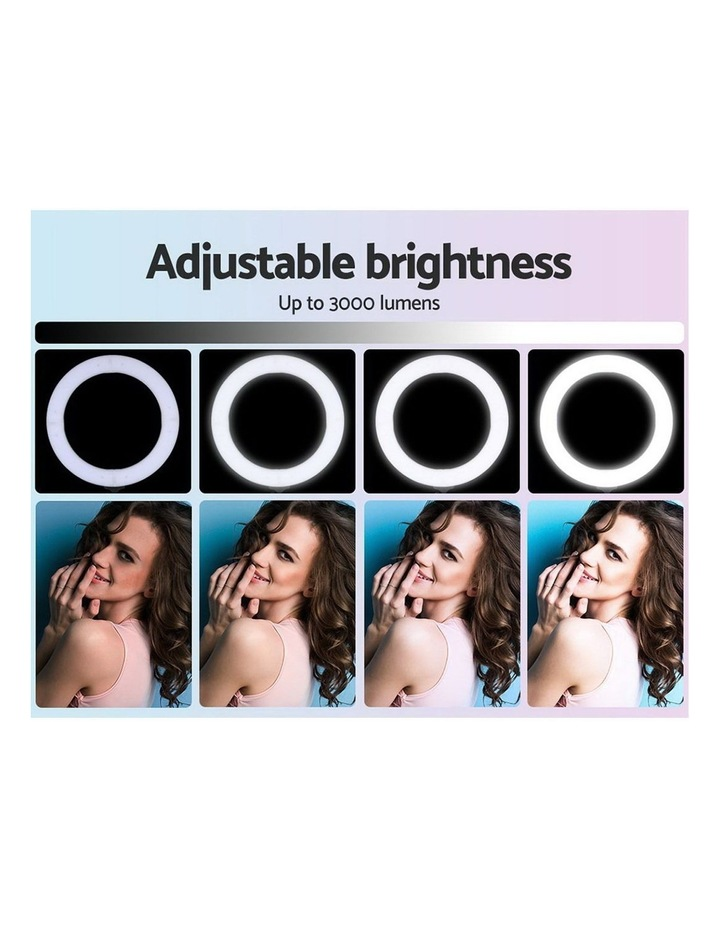 """14"""" LED Ring Light 5600K 3000LM Dimmable Stand MakeUp Studio Video image 5"""