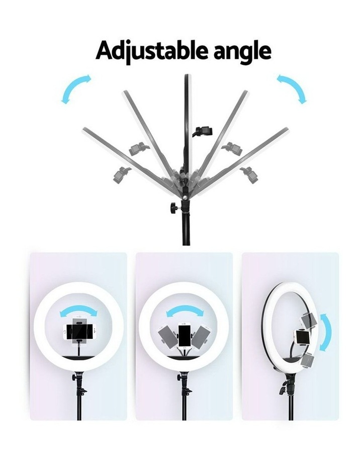 """14"""" LED Ring Light 5600K 3000LM Dimmable Stand MakeUp Studio Video image 6"""
