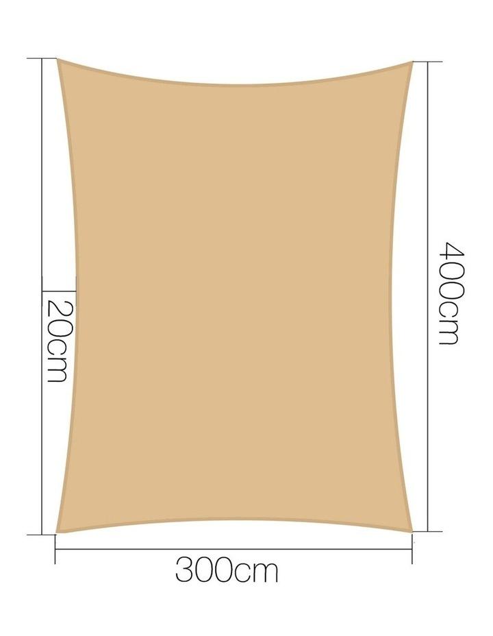 Shade Sail Cloth Shadecloth Rectangle Heavy Duty Sand Sun Canopy 3x4m image 2