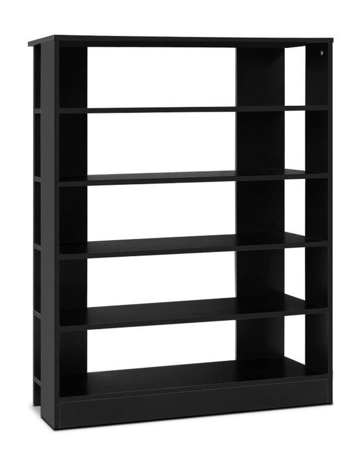 Shoe Cabinet Shoes Organiser Storage Rack 30 Pairs Black Shelf Wooden image 1