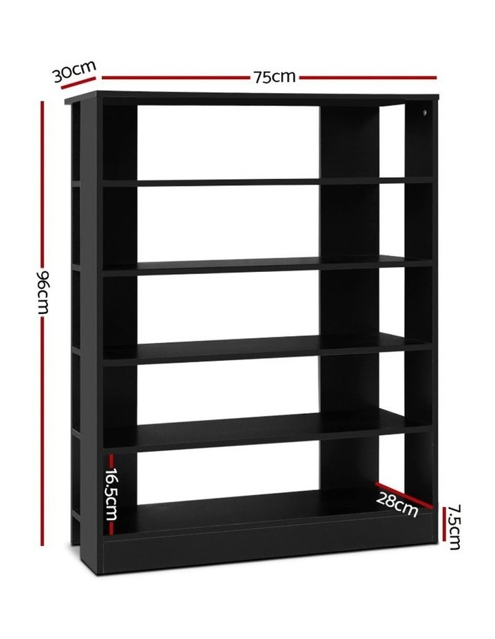 Shoe Cabinet Shoes Organiser Storage Rack 30 Pairs Black Shelf Wooden image 2