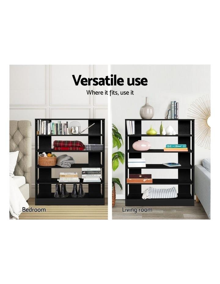 Shoe Cabinet Shoes Organiser Storage Rack 30 Pairs Black Shelf Wooden image 5