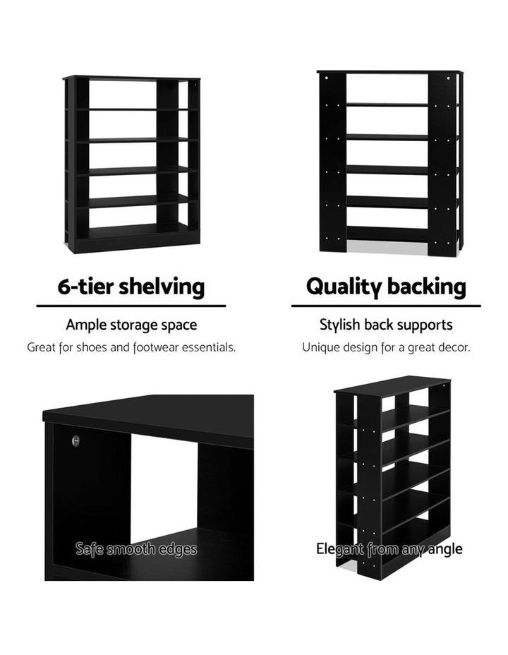 Shoe Cabinet Shoes Organiser Storage Rack 30 Pairs Black Shelf Wooden image 6