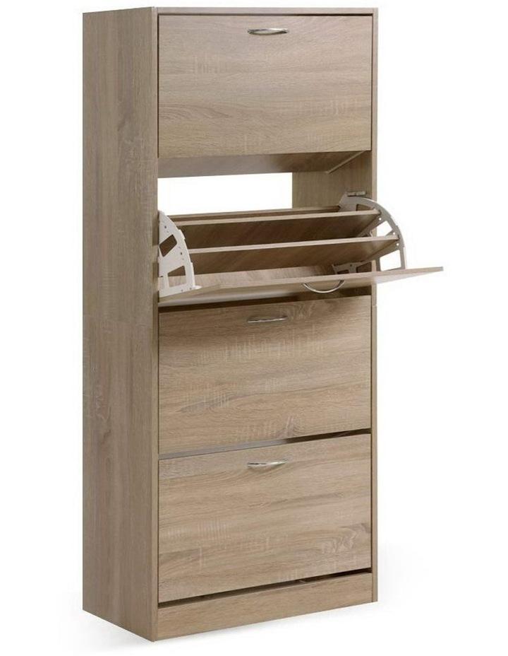 Shoe Cabinet Shoes Storage Rack Organiser 60 Pairs Wood Shelf Drawer image 1