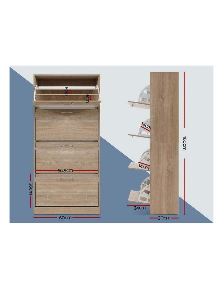 Shoe Cabinet Shoes Storage Rack Organiser 60 Pairs Wood Shelf Drawer image 2