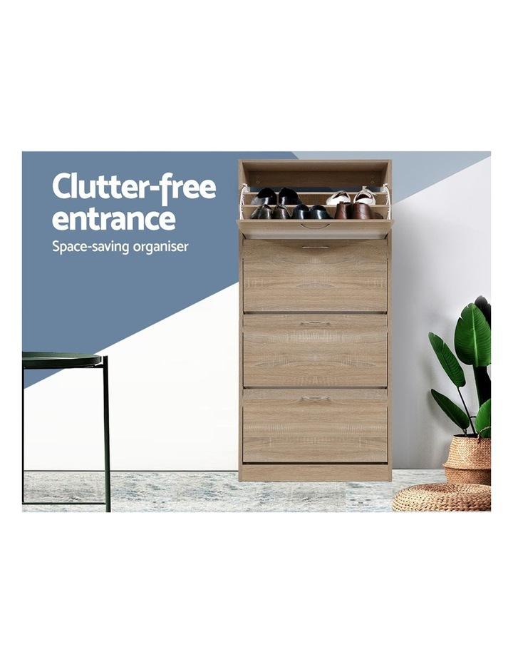 Shoe Cabinet Shoes Storage Rack Organiser 60 Pairs Wood Shelf Drawer image 3