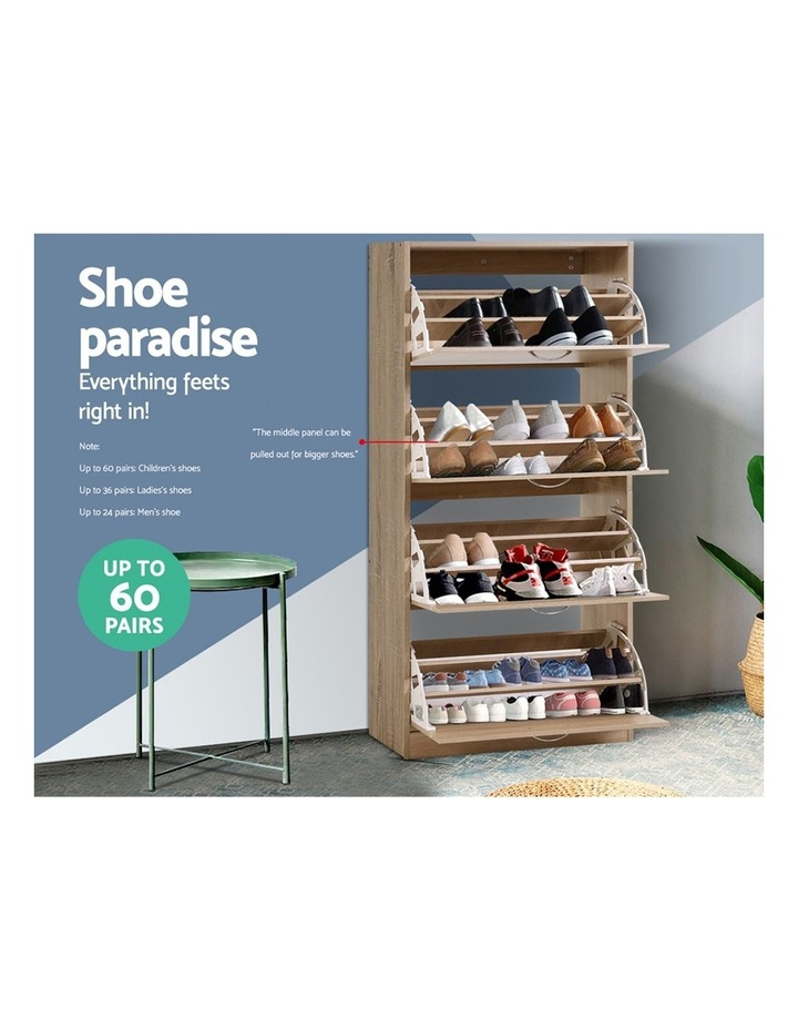 Shoe Cabinet Shoes Storage Rack Organiser 60 Pairs Wood Shelf Drawer image 4