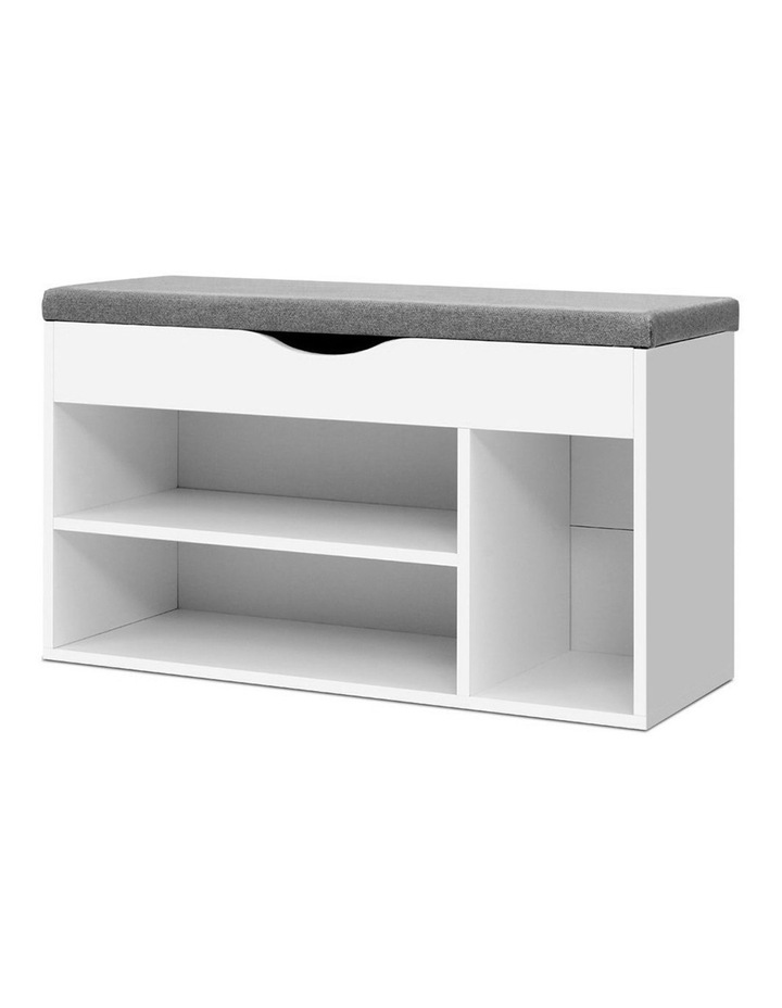 Shoe Cabinet Bench Shoes Organiser Storage Rack Shelf White Cupboard Box image 1