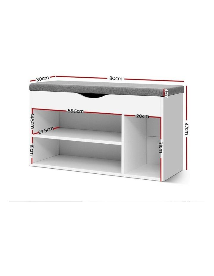 Shoe Cabinet Bench Shoes Organiser Storage Rack Shelf White Cupboard Box image 2
