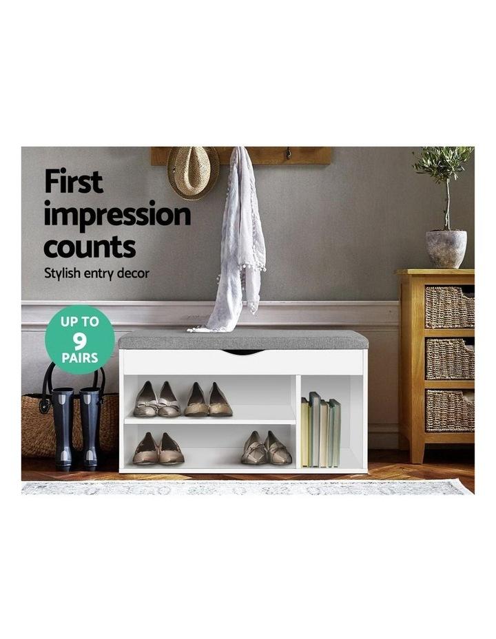 Shoe Cabinet Bench Shoes Organiser Storage Rack Shelf White Cupboard Box image 3