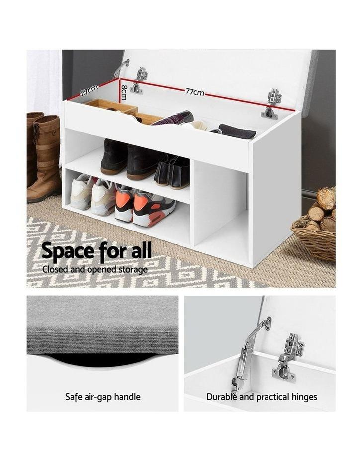 Shoe Cabinet Bench Shoes Organiser Storage Rack Shelf White Cupboard Box image 4