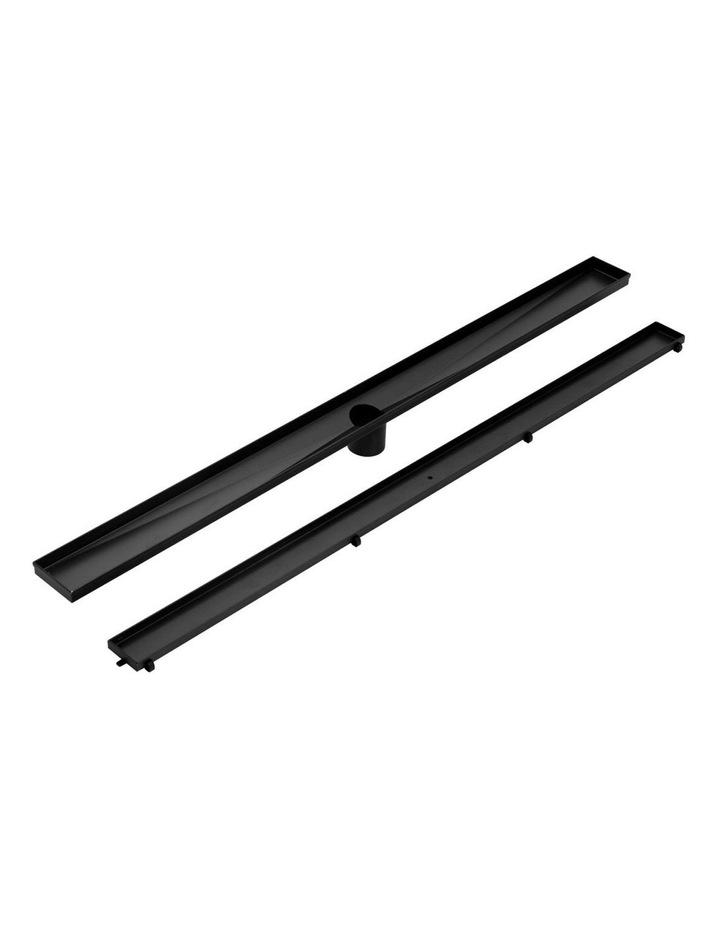 Stainless Steel Shower Grate Tile Insert Bathroom Floor Drain Liner 800MM Black image 3