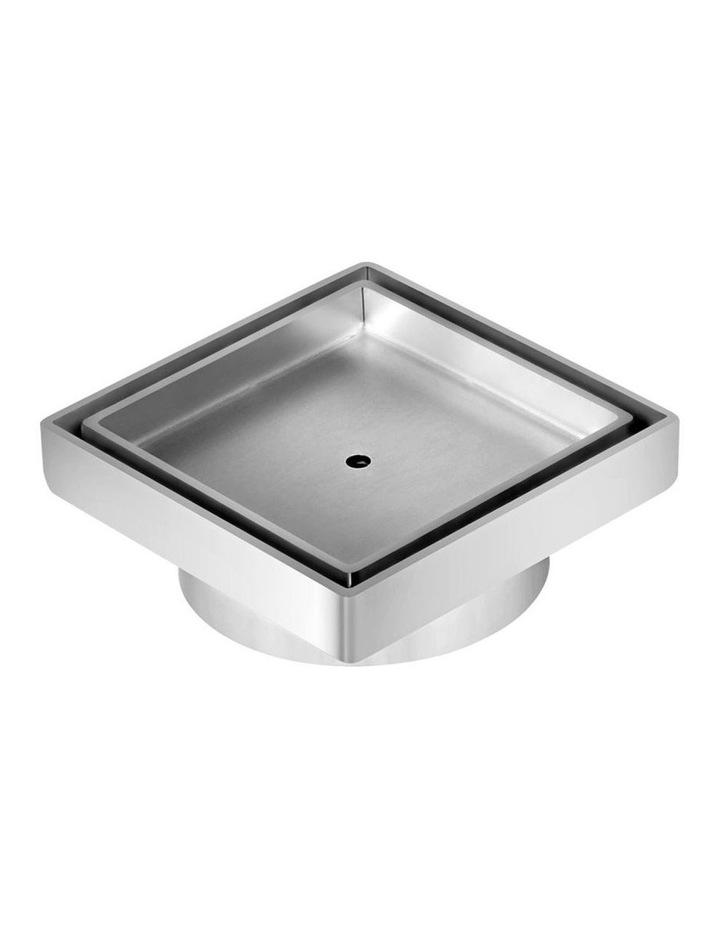 115x115mm Stainless Steel Shower Grate Tile Insert Drain Square Bathroom image 1