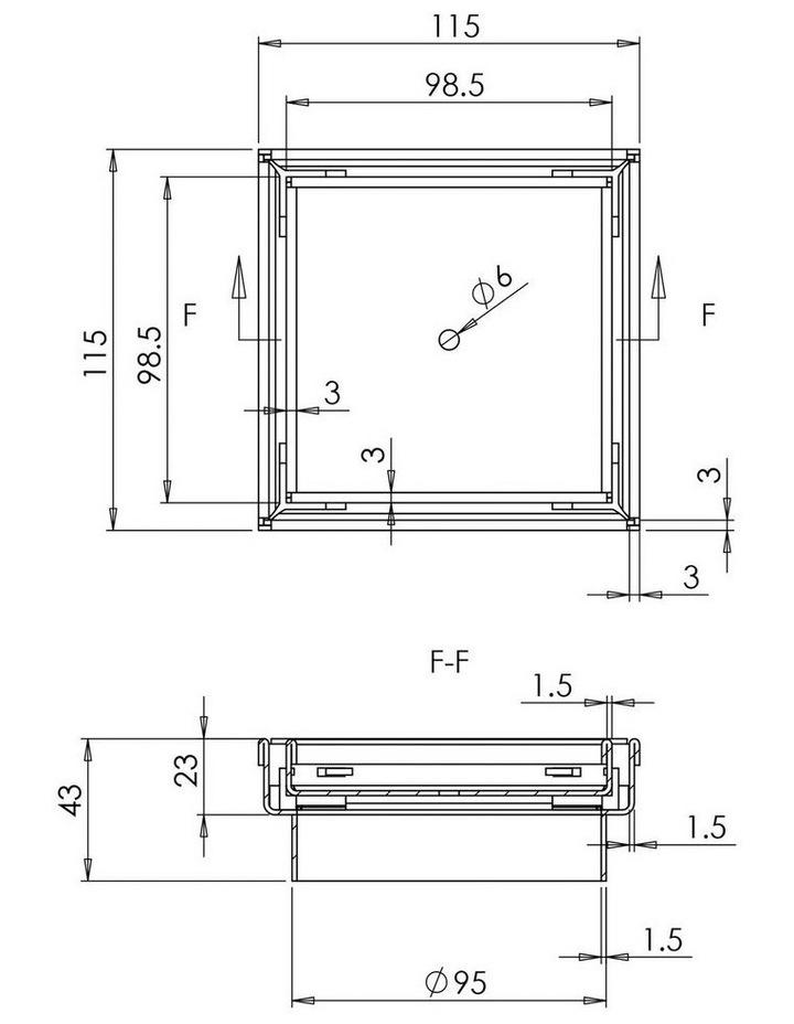 115x115mm Stainless Steel Shower Grate Tile Insert Drain Square Bathroom image 2