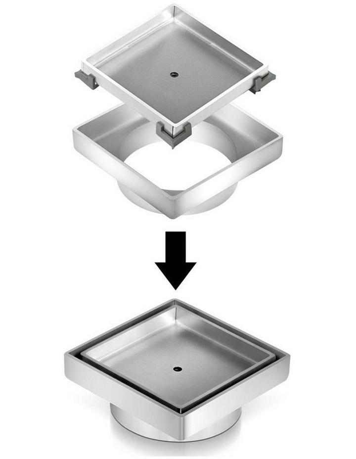 115x115mm Stainless Steel Shower Grate Tile Insert Drain Square Bathroom image 3