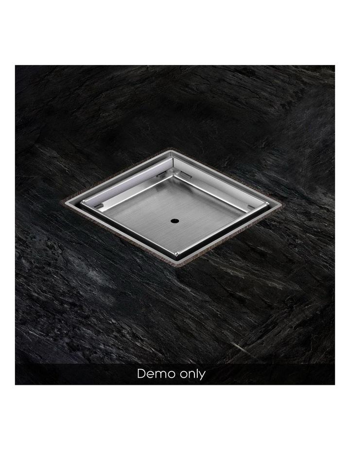 115x115mm Stainless Steel Shower Grate Tile Insert Drain Square Bathroom image 6