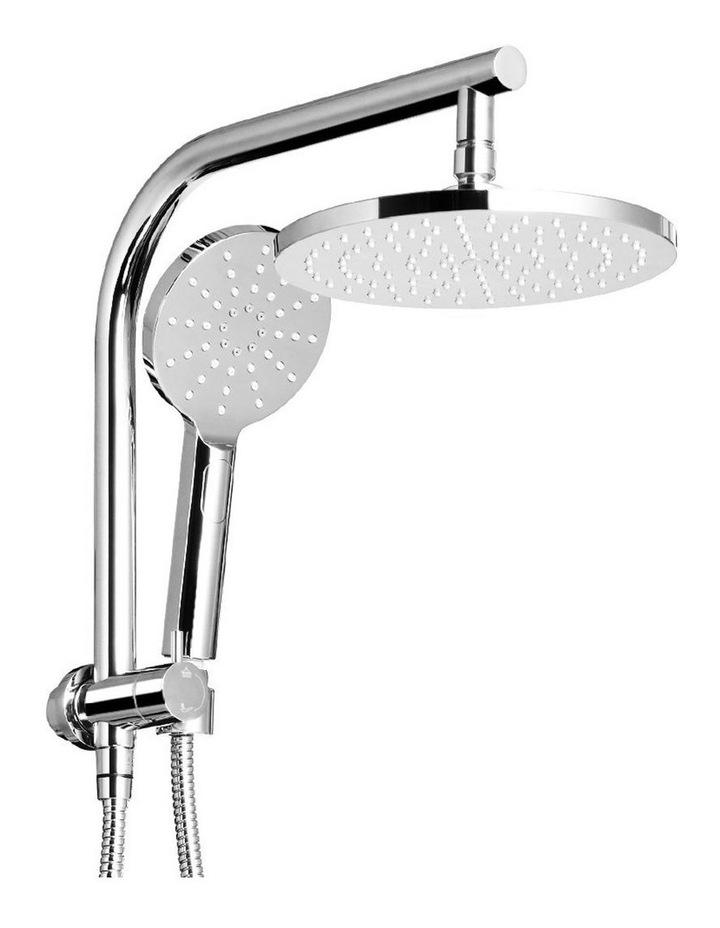 WELS Round 9 inch Rain Shower Head Bathroom Wall Arm Handheld Spray Bracket Rail Set 3 Modes image 1