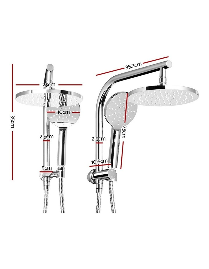 WELS Round 9 inch Rain Shower Head Bathroom Wall Arm Handheld Spray Bracket Rail Set 3 Modes image 2