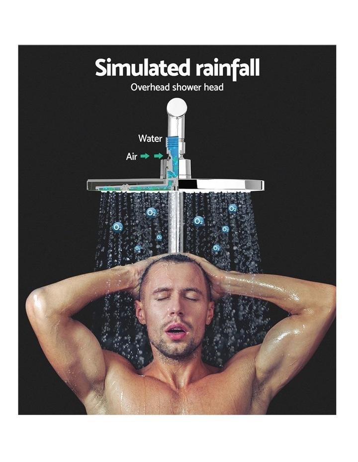 WELS Round 9 inch Rain Shower Head Bathroom Wall Arm Handheld Spray Bracket Rail Set 3 Modes image 3