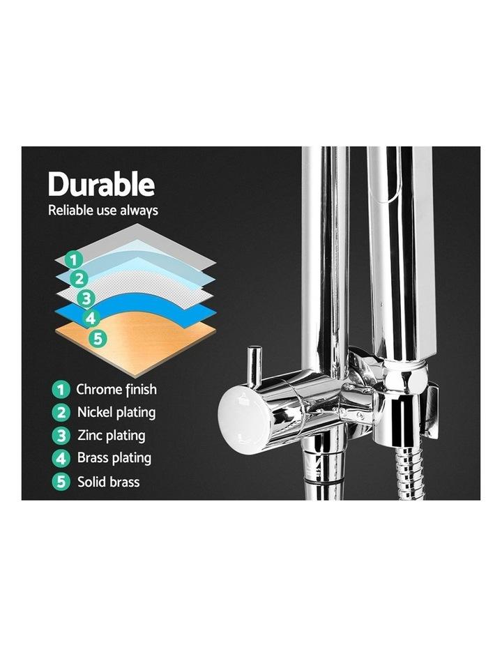 WELS Round 9 inch Rain Shower Head Bathroom Wall Arm Handheld Spray Bracket Rail Set 3 Modes image 5