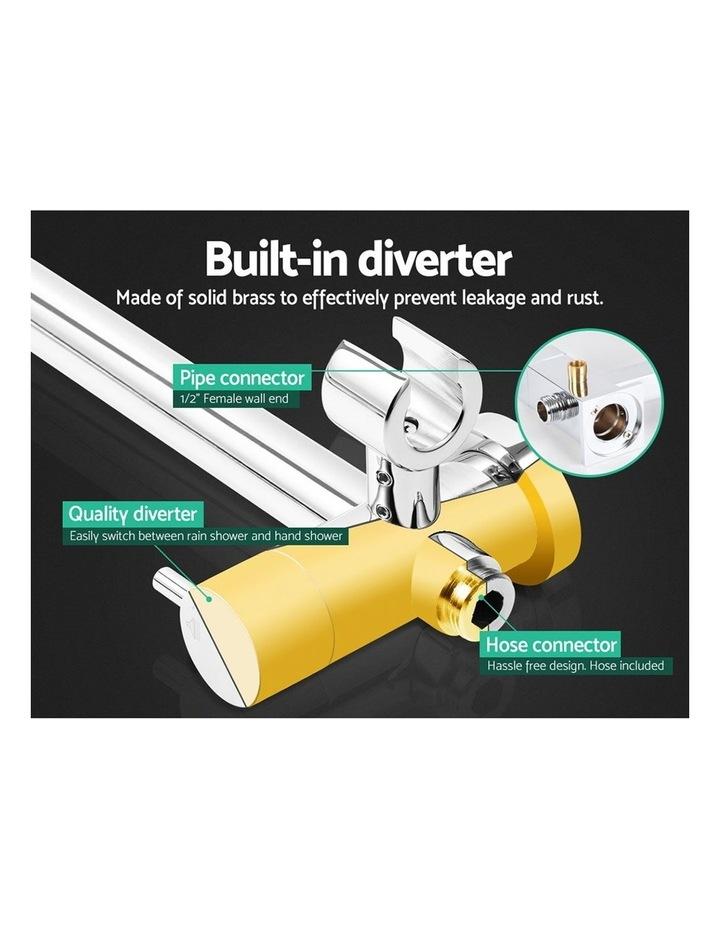 WELS Round 9 inch Rain Shower Head Bathroom Wall Arm Handheld Spray Bracket Rail Set 3 Modes image 6