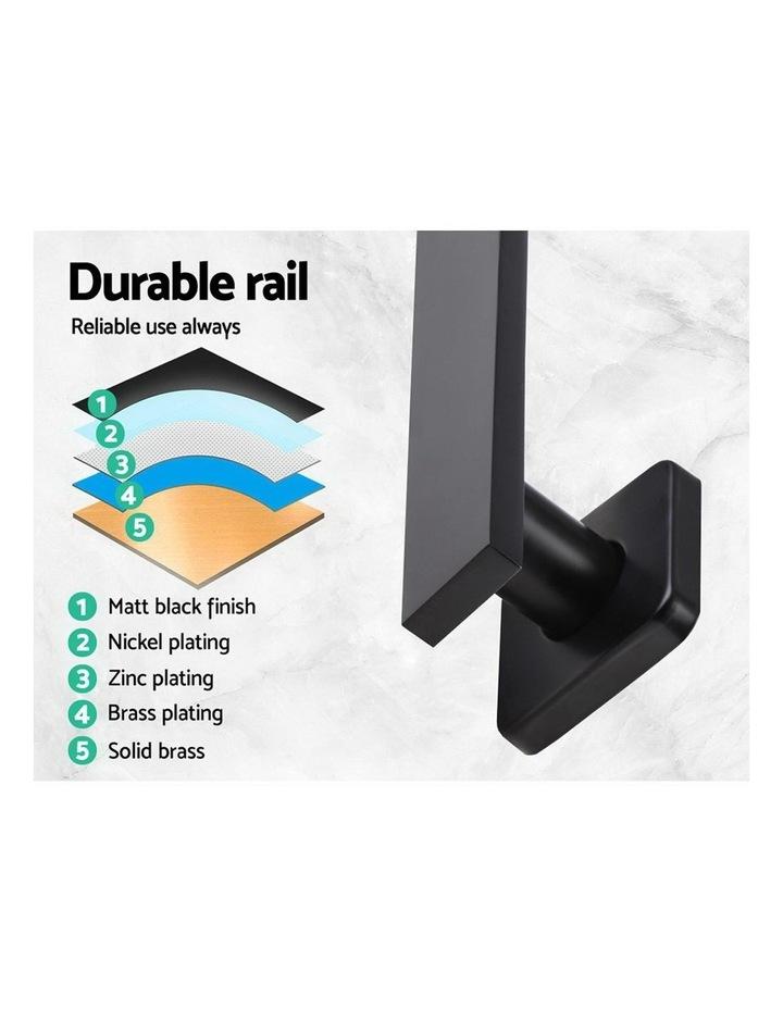 "WELS 8"" Rain Shower Head Set Bathroom Gooseneck Square Mixer Hand Held High Pressure Black image 5"