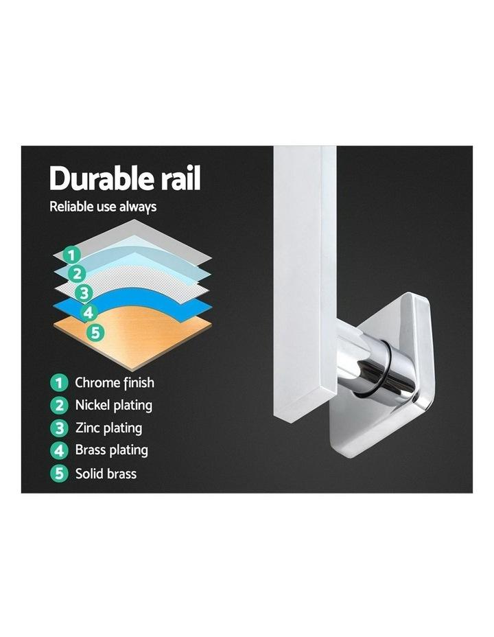"WELS 8"" Rain Shower Head Set Bathroom Gooseneck Square Mixer Hand Held High Pressure Silver image 5"