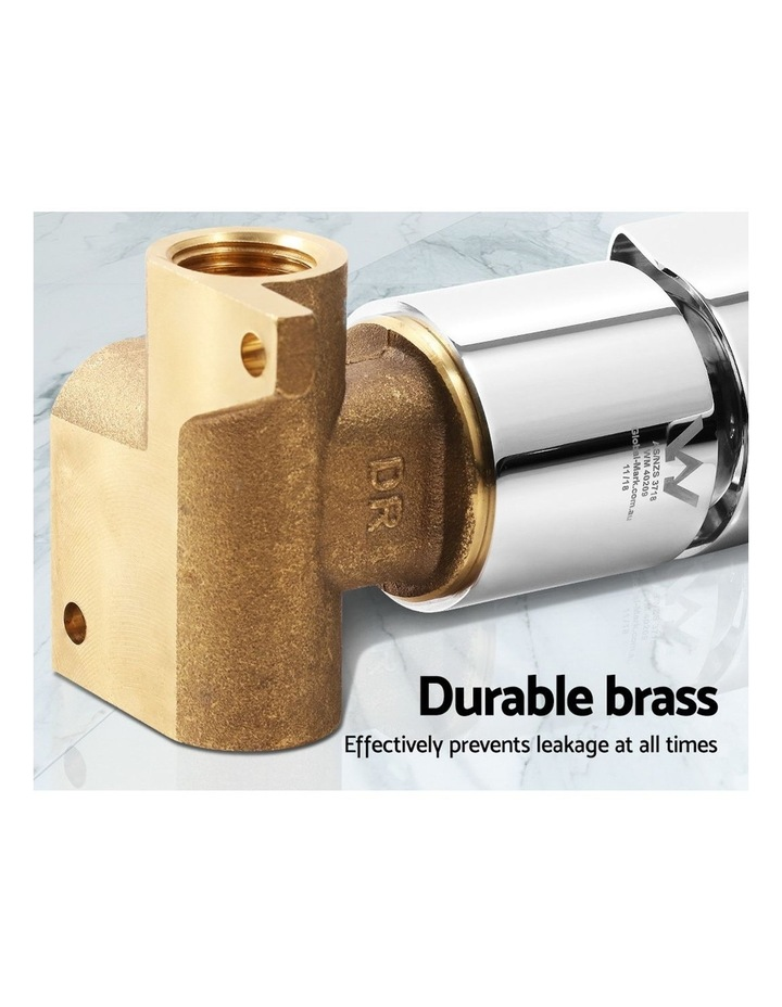 Brass Shower Mixer Head Hot and Cold Bathroom Tap Chrome image 5