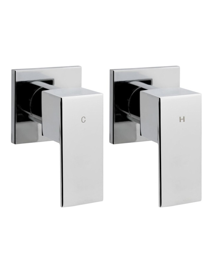 Brass Shower Taps Set Head Hot and Cold Bathroom Chrome Faucet image 1