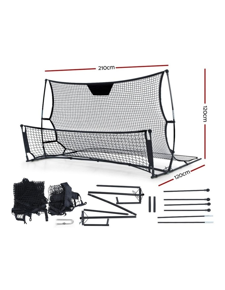 Portable Soccer Rebounder Net Volley Training Football Goal Trainer XL image 2