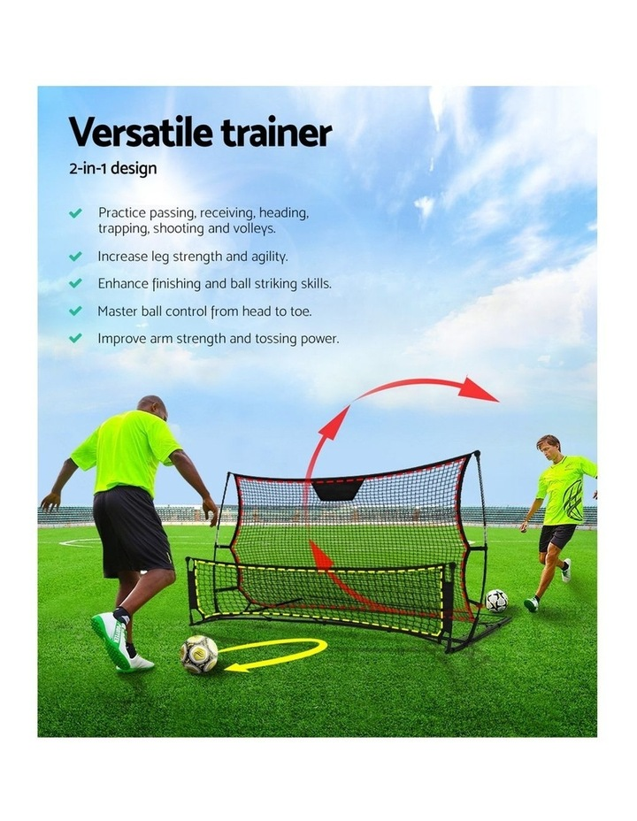 Portable Soccer Rebounder Net Volley Training Football Goal Trainer XL image 3
