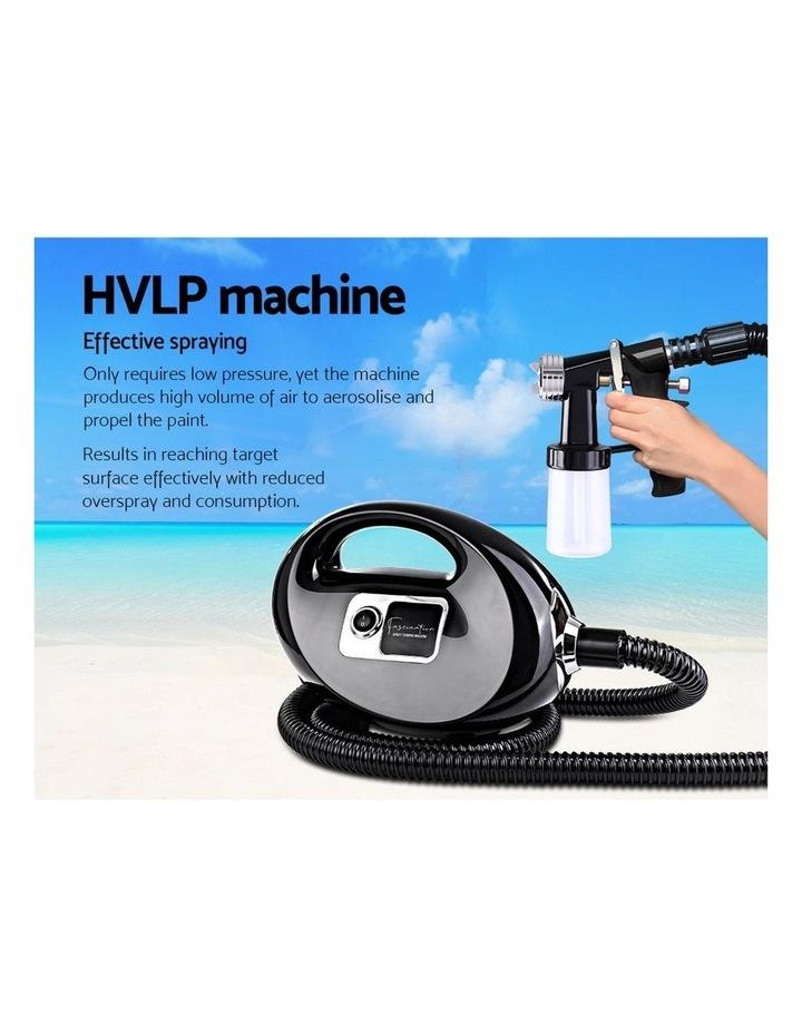 Professional Spray Tan Machine Sunless Tanning Gun Kit HVLP System Black image 4
