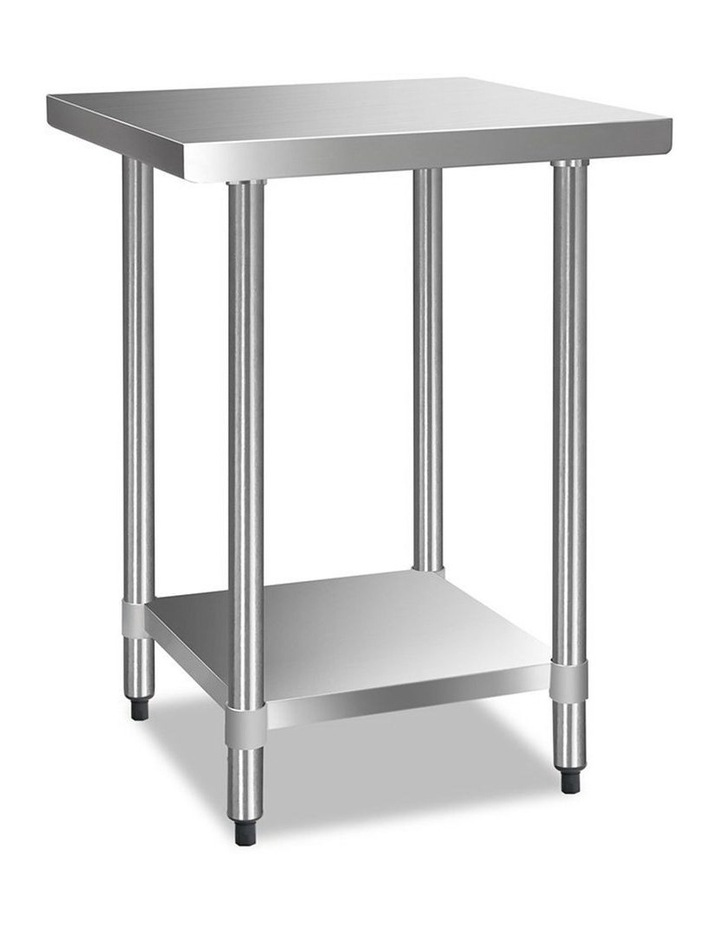 610 x 610m Commercial Stainless Steel Kitchen Bench image 1