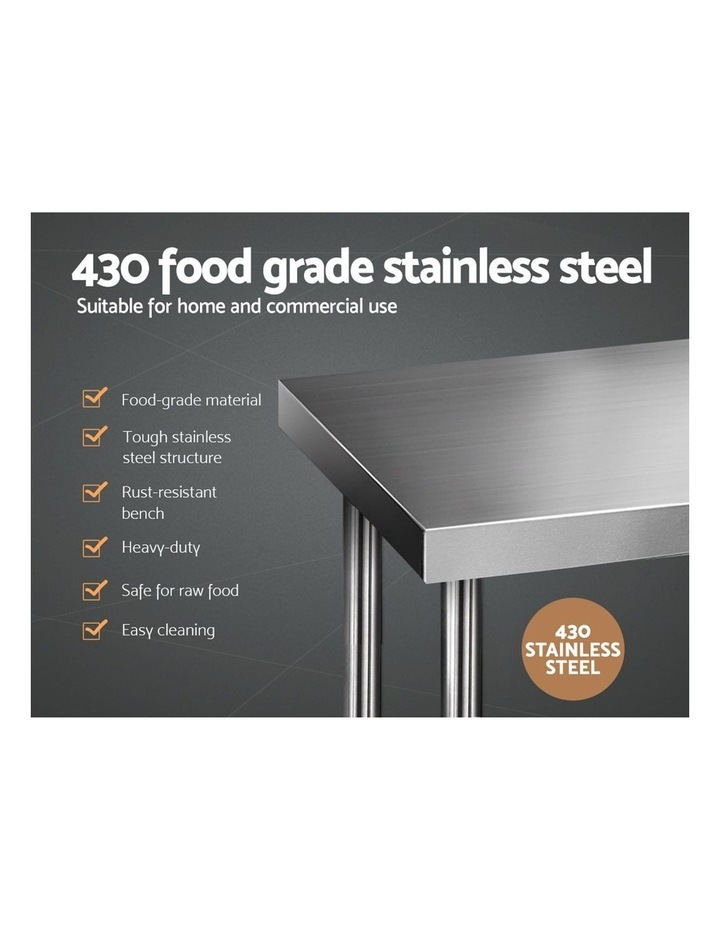 610 x 610m Commercial Stainless Steel Kitchen Bench image 3