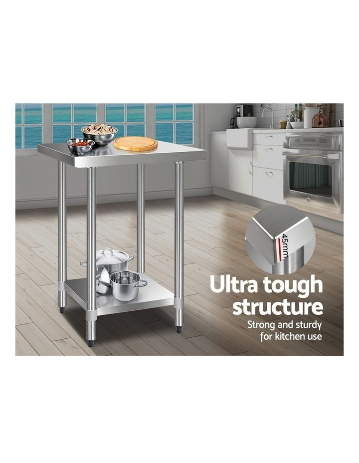 610 x 610m Commercial Stainless Steel Kitchen Bench image 4