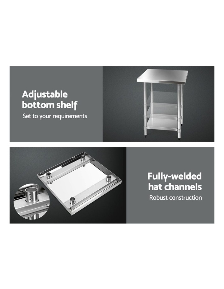 610 x 610m Commercial Stainless Steel Kitchen Bench image 5