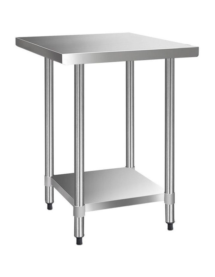 760x760mm Commercial Stainless Steel Kitchen Bench 430 Food Prep Table image 1