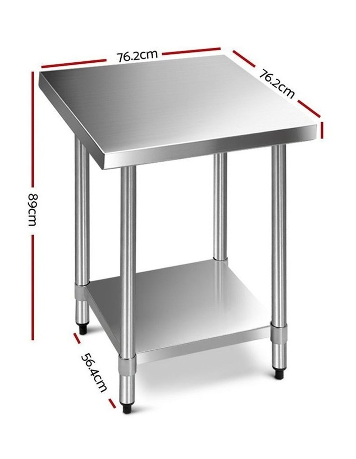 760x760mm Commercial Stainless Steel Kitchen Bench 430 Food Prep Table image 2